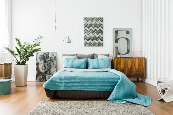 Cómo decorar una habitación de matrimonio moderna - Seleccionar el color para la habitación de matrimonio