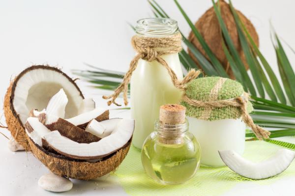 Mascarillas de aceite de coco para el cabello - Mascarilla de aceite de coco, de árbol del té y miel para la caspa