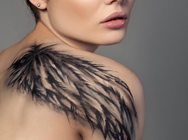 Significado de los tatuajes de alas - Significado de los tatuajes de alas de ángel