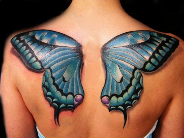 Significado de los tatuajes de alas - Tatuaje de alas de mariposa y su significado