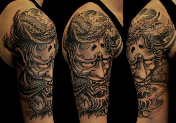 Significado de los tatuajes japoneses - Significado de los tatuajes de máscaras japonesas: Hannya y Oni