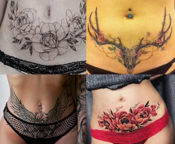 Tatuajes para tapar estrías - Tatuajes para tapar estrías en el abdomen