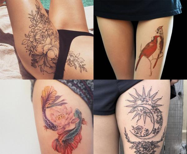 Tatuajes para tapar estrías - Tatuajes para tapar estrías en las piernas y los muslos