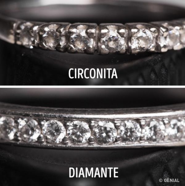 Diferencia entre circonita, brillante y diamante - Las principales diferencias entre circonita y diamante