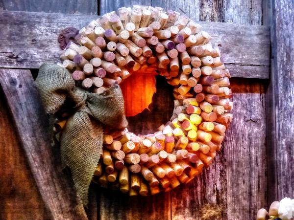 Adornos de Navidad para las puertas - Adornos de Navidad para las puertas - coronas hechas a mano