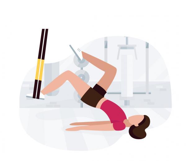 10 ejercicios para los isquiotibiales - Extensión de cadera con ligera flexión de rodilla