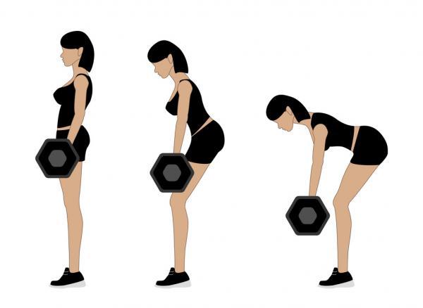 10 ejercicios para los isquiotibiales - Peso muerto rumano