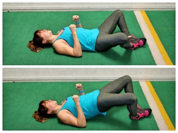 10 ejercicios para los isquiotibiales - Puente de ranita