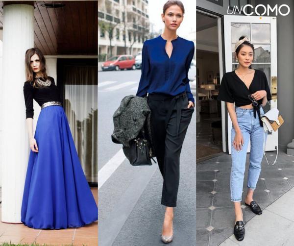 Colores que combinan con el azul - Cómo combinar azul con negro