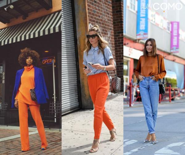 Colores que combinan con el azul - Cómo combinar el azul con el naranja para ir a la moda