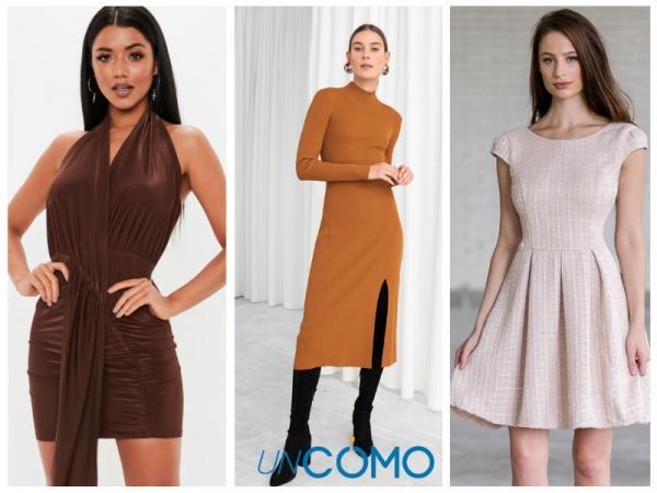 Colores de vestidos para morenas - Vestidos de color tierra y marrón