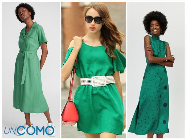 Colores de vestidos para morenas - Vestidos de color verde