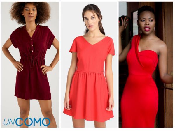 Colores de vestidos para morenas - Vestidos de color rojo