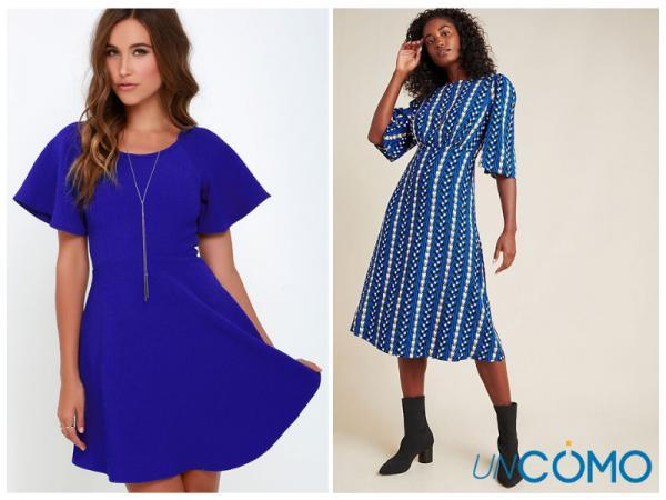 Colores de vestidos para morenas - Vestidos de color azul cobalto