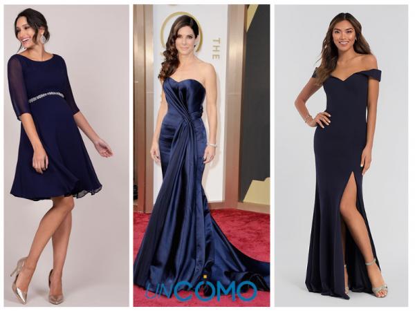 Colores de vestidos para morenas - Vestidos de color azul marino