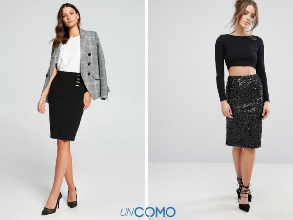 Cómo combinar una falda negra - Looks para combinar una falda negra de tubo