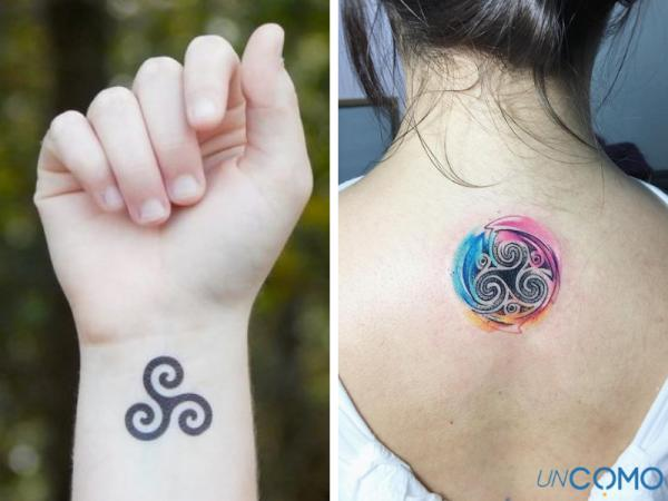 Tatuajes celtas y su significado - El trisquel o triple espiral