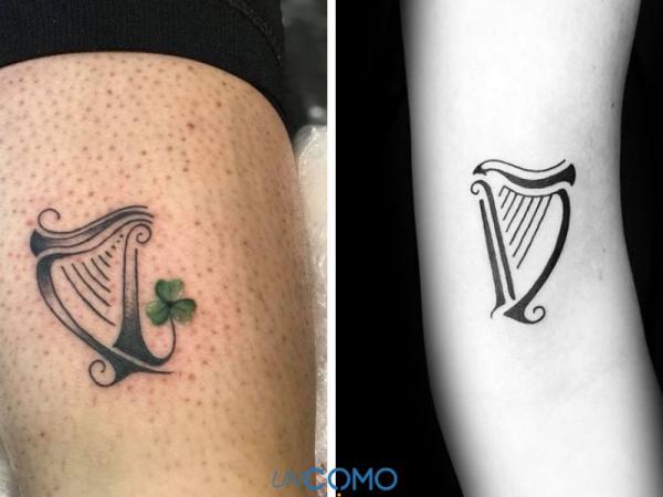 Tatuajes celtas y su significado - El arpa