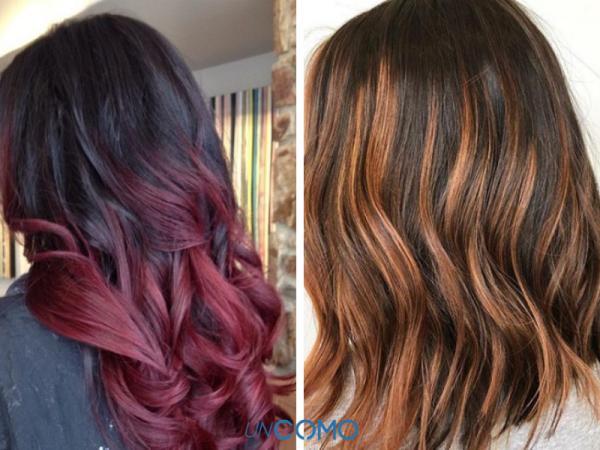 Colores de cabello para piel morena - Mechas para piel morena sobre base oscura