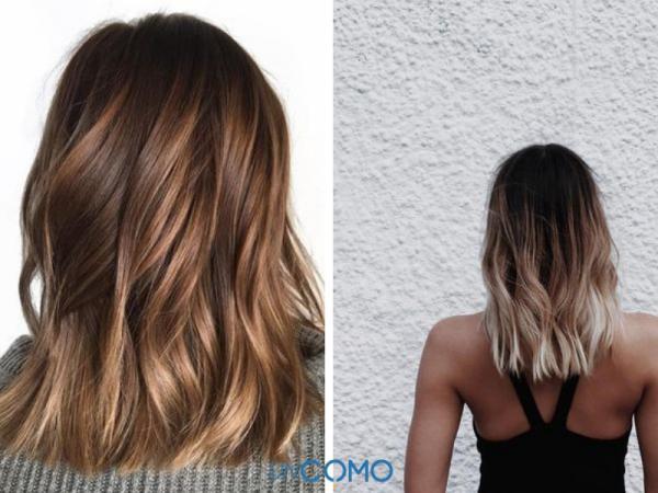 Colores de cabello para piel morena - Balayage