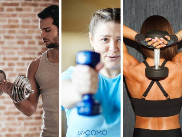 Rutina de ejercicios para aumentar masa muscular en el gimnasio - Levantamiento de mancuernas