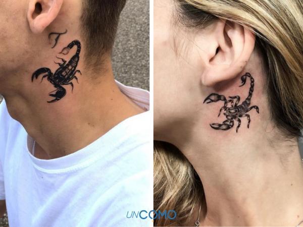 Tatuajes de escorpiones: significado e imágenes - Tatuajes de escorpiones en el cuello