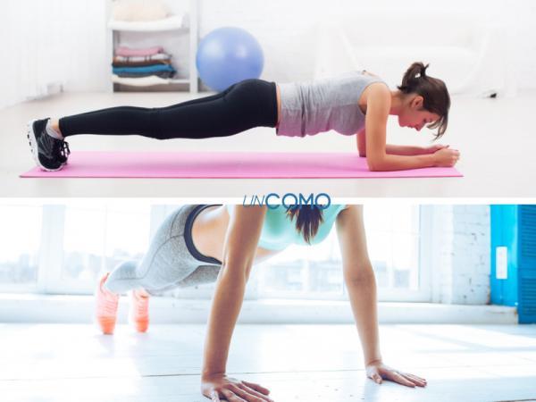 Ejercicios para subir de peso - Plancha arriba y abajo