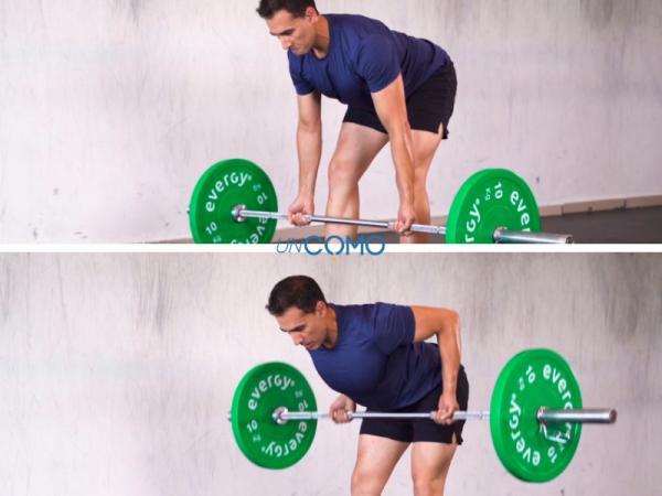 Ejercicios para subir de peso - Remo con barra