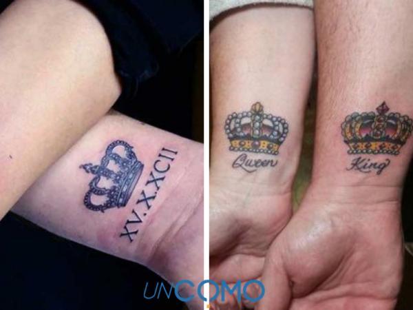 8 tatuajes de coronas para parejas - Tatuajes de coronas para parejas: ideas e imágenes