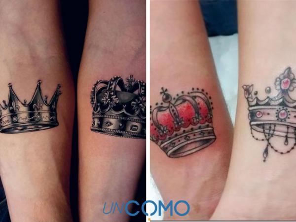 8 tatuajes de coronas para parejas - Significado de los tatuajes de coronas