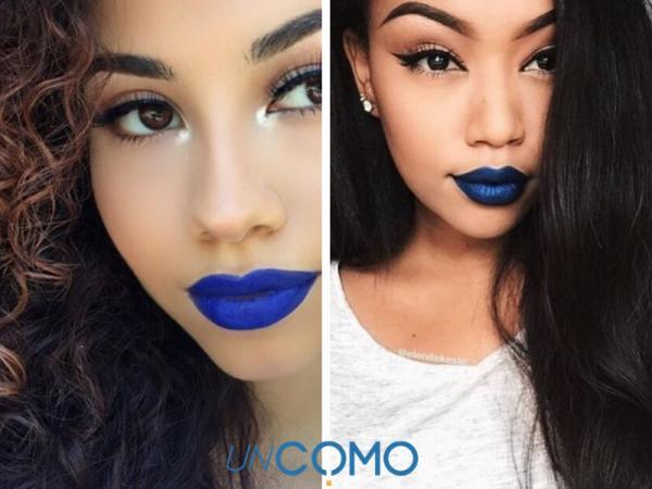 Colores de labiales para morenas - Labial azul para las más atrevidas