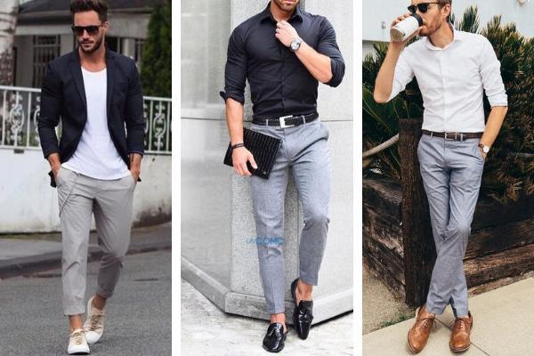 Cómo combinar un pantalón gris - Cómo combinar un pantalón gris de hombre