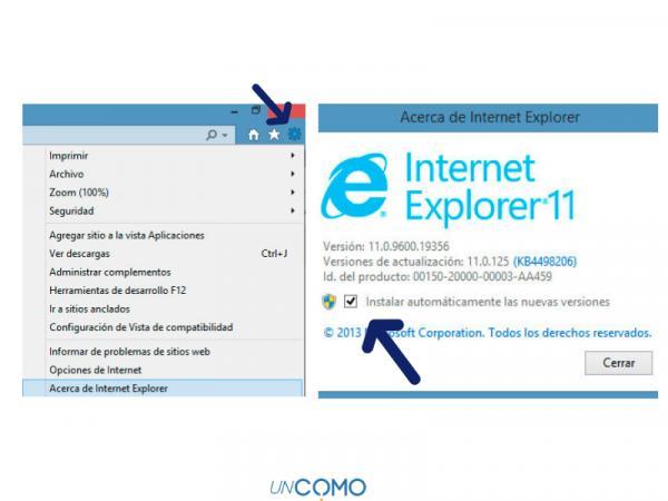 Cómo actualizar Internet Explorer - Cómo actualizar Internet Explorer 10 - paso a paso