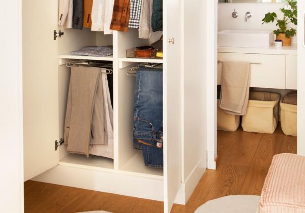 Cómo organizar un armario pequeño con mucha ropa - Incluye barras hidráulicas