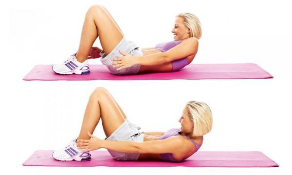 Cómo tener un abdomen plano - Ejercicio de oblicuos: toque de tobillos