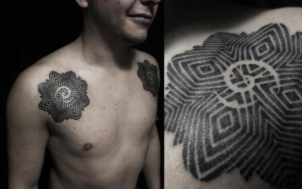 Significado de los tatuajes tribales - Tatuajes tribales Dayak de la Isla de Borneo