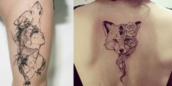 5 tatuajes originales para mujeres - Tatuajes de animales salvajes