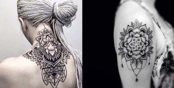 5 tatuajes originales para mujeres - Tatuajes de mandalas para mujeres