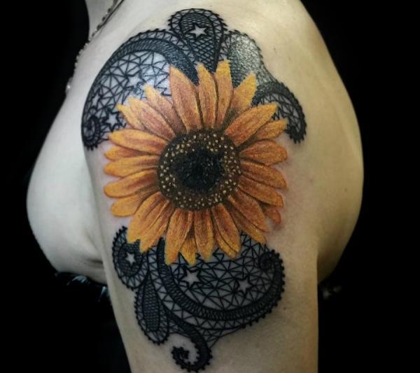 Significado del tatuaje del girasol - Diseños de tatuajes de girasol
