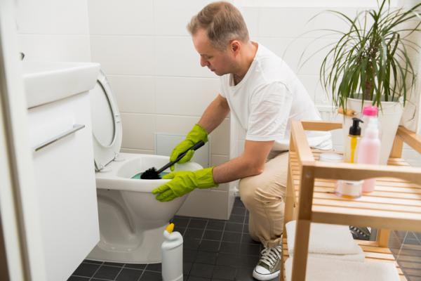 Cómo destapar un inodoro muy tapado - Cómo destapar un baño tapado con líquido desatascador