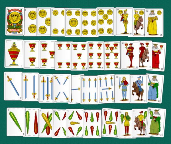 Juegos de cartas españolas fáciles - El cinquillo