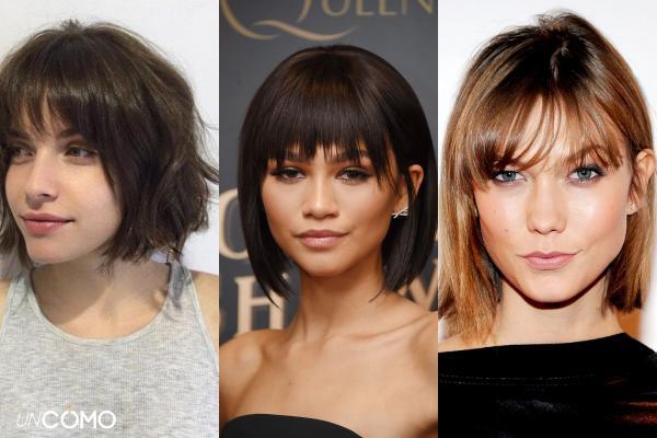 Cortes de pelo para el pelo fino y poco abundante - Corte bob con flequillo cortina