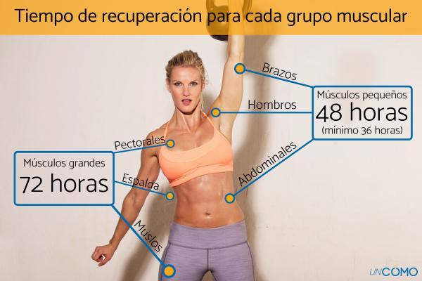 Cuánto tiempo debe descansar cada músculo - Tiempo de recuperación para cada grupo muscular
