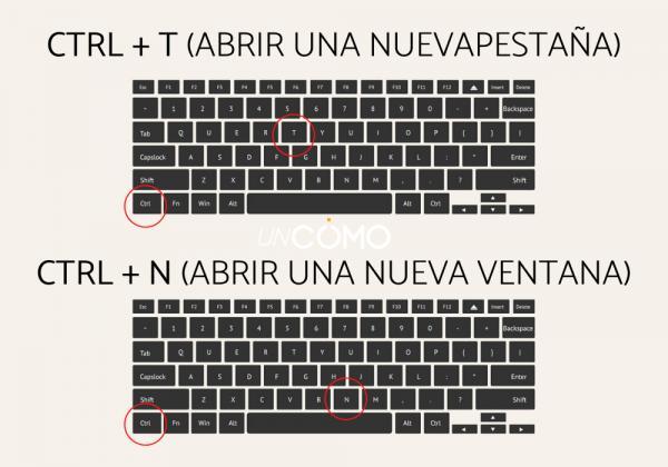 Cómo cambiar de pestaña con el teclado - Ctrl + N (Abrir una nueva ventana)