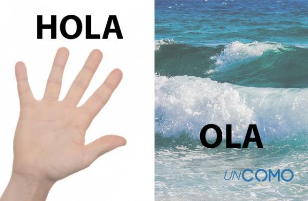 Cómo se escribe hola u ola - con ejemplos - Cuál es la diferencia entre hola y ola