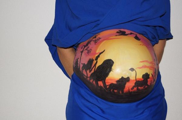 Body painting en las barrigas de las embarazadas - imágenes e ideas - Usar pinturas sin tóxicos y aptas para el embarazo