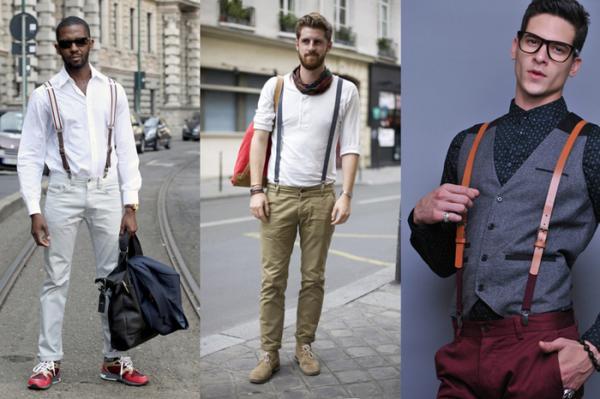 Cómo combinar tirantes masculinos - Un look urbano masculino