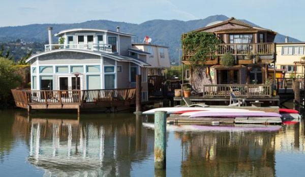 Qué hacer y visitar en Sausalito - lo que no puedes perderte - Casas flotantes de Sausalito