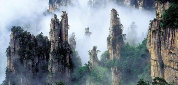 Las montañas de Tianzi en China son 'Pandora' de la película 'Avatar' - La reserva natural de Zhangjiajie en China, el escenario de 'Avatar'