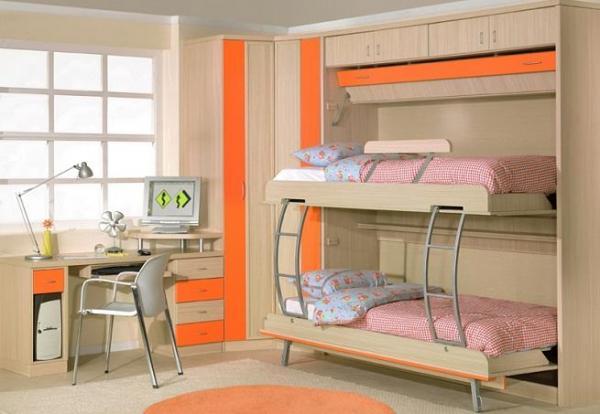 Camas prácticas para dormitorios pequeños - Camas plegables